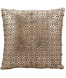 Nourison Pillows Laser Cut Es010 Gold Beige