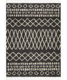 Nourison Marrakesh Shag Mrk02 Charcoal Area Rug
