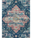 Nourison Fusion Fss13 Navy-Pink Area Rug