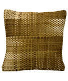 Nourison Pillows Natural Leather Hide Jh263 Amber
