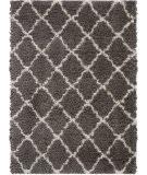 Nourison Ultra Plush Shag Ulp02 Charcoal - Beige Area Rug