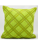Nourison Pillows Natural Leather Hide M918 Green