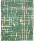 Nourison Tahoe Modern Mta03 Turquoise Green Area Rug