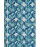 Nourison Studio Nyc Collection Om005 Aqua - Navy Area Rug