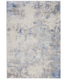 Nourison Silky Textures Sly04 Blue - Ivory Area Rug