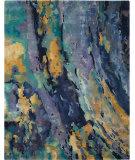 Nourison Prismatic Prs09 Silver-Blue Area Rug