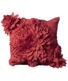 Nourison Mina Victory Pillows Felt R1034 Coral