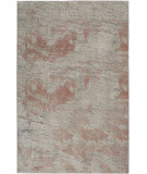 Nourison Rustic Textures RUS15 Light Grey - Rust Area Rug
