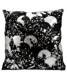 Nourison Pillows Natural Leather Hide S1203 Black - Silver