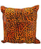 Nourison Pillows Natural Leather Hide S1500 Orange