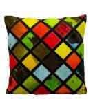 Nourison Pillows Natural Leather Hide S1894 Multicolor