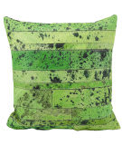Nourison Pillows Natural Leather Hide S1975 Apple Green