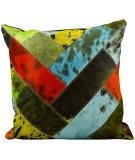 Nourison Pillows Natural Leather Hide S2039 Multicolor