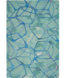 Nourison Symmetry Smm05 Aqua Blue Area Rug