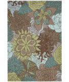 Nourison South Beach Sou07 Aqua Brown Area Rug