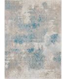 Nourison Karma Krm07 Ivory - Light Blue Area Rug
