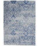 Nourison Damask Das06 Blue Area Rug