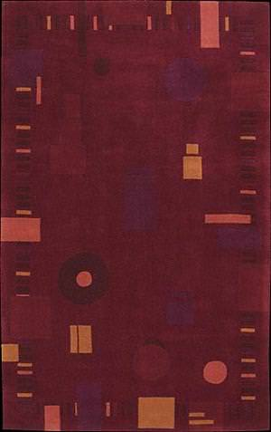 Nourison Dimensions ND-19 Burgundy Area Rug