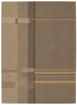 Calvin Klein Loom Select CK-11 Layered Strip LS-09 Oak Area Rug