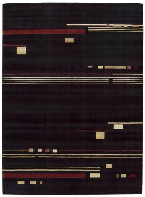 2221a4272371 Nourison Parallels PR-04 Black Clearance