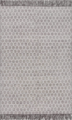 Nuloom Edris Tassel Grey Area Rug