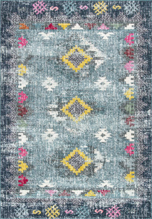 Nuloom Faded Diamond Dennis Blue Area Rug