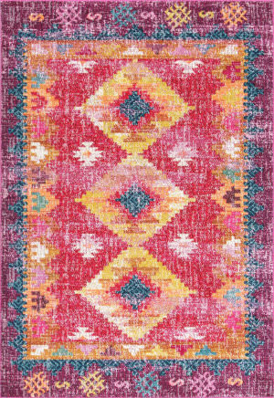 Nuloom Faded Diamond Dennis Pink Area Rug