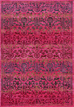 Nuloom Vintage Tribal Hinojosa Pink Area Rug