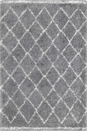 Nuloom Vennie Shaggy Grey Area Rug