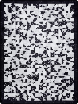 Nuloom Niesha Abstract Tiles Black And White Area Rug