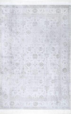 Nuloom Vintage Floral Elyse Silver Area Rug