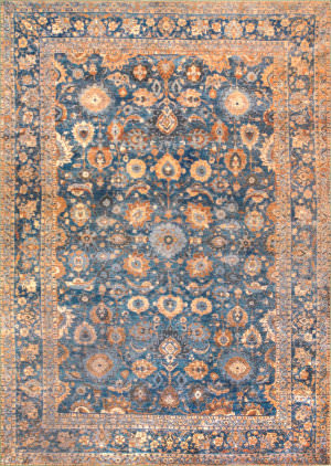 Nuloom Persian Nour Blue Area Rug