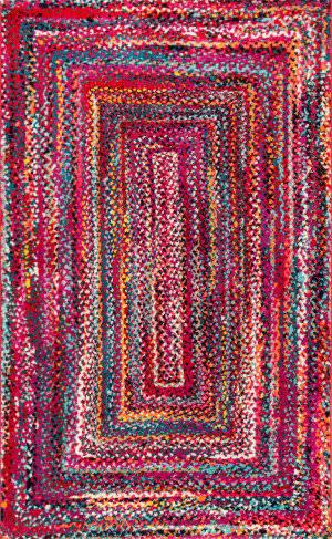 Nuloom Hargis Labyrinth Red Area Rug