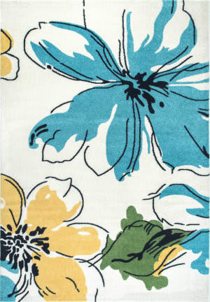 Nuloom Barbosa Floral Abstract Multi Area Rug