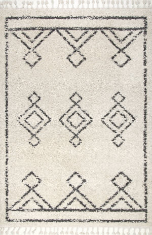 Nuloom Mackie Moroccan Diamond Off-White Area Rug