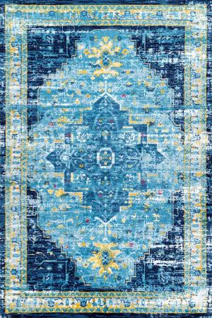 Nuloom Vintage Aurea Blue Area Rug