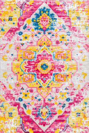 Nuloom Vintage Malik Pink Multi Area Rug