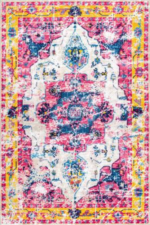 Nuloom Vintage Devito Pink Multi Area Rug