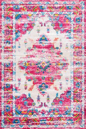Nuloom Vintage Jennine Pink Multi Area Rug