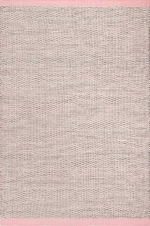 Nuloom Bordered Emelia Pink Area Rug