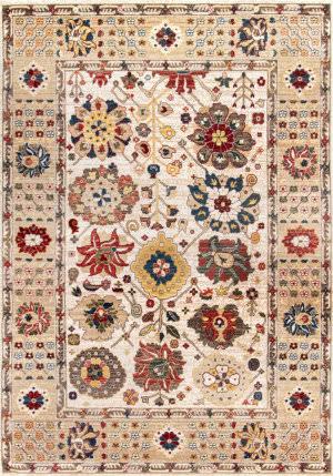 Nuloom Vintage Floral Arleen Light Beige Area Rug