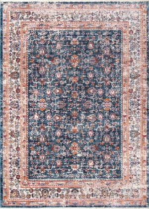 Nuloom Vintage Floral Eboni Blue Area Rug