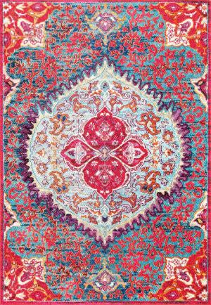 Nuloom Vintage Leandra Red Area Rug