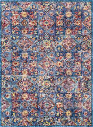 Nuloom Vintage Floral Busby Blue Area Rug