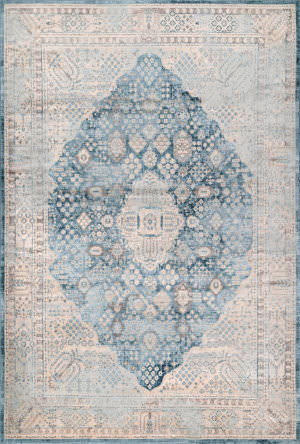Nuloom Vintage Claire Light Blue Area Rug
