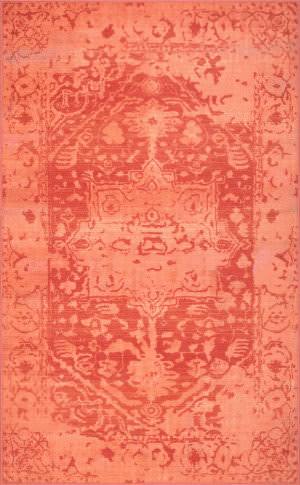 Nuloom Vintage Medallion Ornelas Orange Area Rug