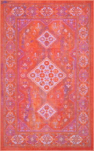 Nuloom Vintage Inell Orange Area Rug