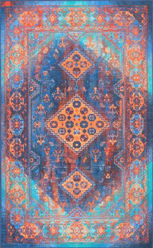 Nuloom Vintage Inell Blue Area Rug
