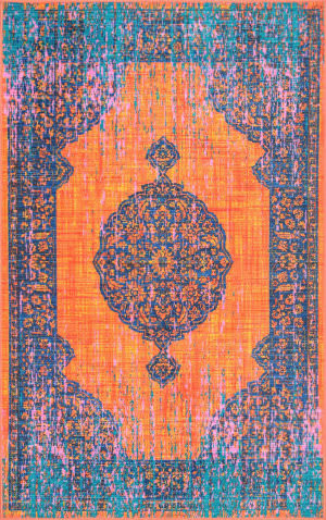 Nuloom Vintage Markley Orange Area Rug