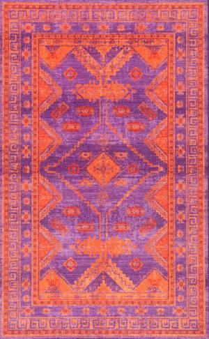 Nuloom Vintage Mandie Purple Area Rug